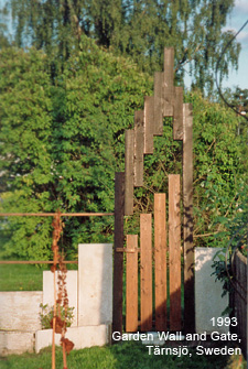 1993 Gardenwall and gate, Tärnsjö Sweden